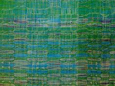 new weaving at SSA, Monet's Waterlilies? Weaving Designs, Weaving Patterns, Weaving Yarn, Hand Weaving, Fabric Structure, Organic Matter, Fabric Strips, Water Lilies, Honeycomb