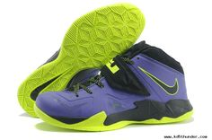 buy popular cb4f0 891d0 2013 599264 006 Court PurpleFlash Lime Nike Lebron Zoom Soldier VII For  Wholesale Lebron
