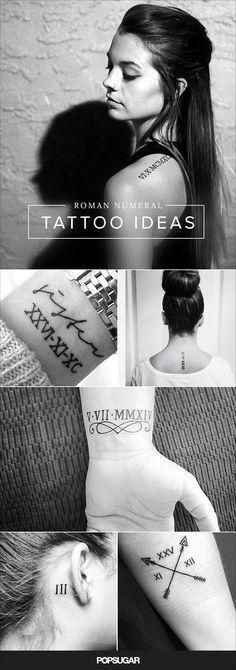 Idéias de tatuagens com numerais romanos.:
