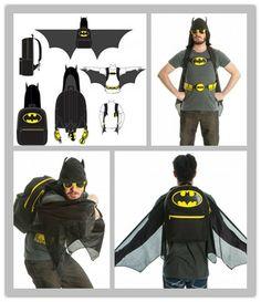 Batman Hooded Costume Backpack with Wings : http://www.amazon.com/gp/product/B00CLUGHRW/ref=as_li_ss_tl?ie=UTF8&camp=1789&creative=390957&creativeASIN=B00CLUGHRW&linkCode=as2&tag=wek075-20   這是真的嗎!! 蝠蝙俠背包~~打開背包就可以展開翅膀, 是不是有點太瘋狂啦XD
