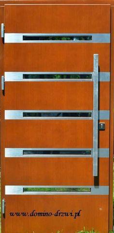 Drzwi zewnętrzne. Model -  Techno Inox