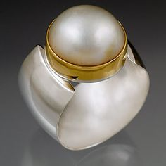 Silver with Gold Elegance - Mary Timmer Jewelry http://www.timmerdesigns.com/rings09.html