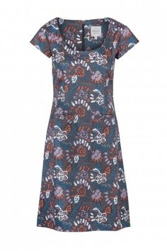 Bloomsbury Printed Dress With Pockets Grey Multi - MISTRAL from Mistral UK