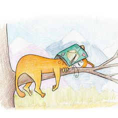 the almost-cat Julian and his day #illustration #cat #animals #doodle #draw #drawing  #sleep #goodbook #reading #cats