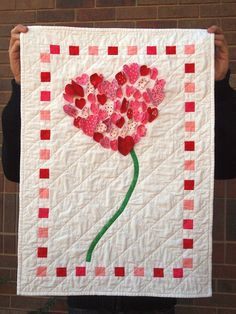 "Valentine quilt Valentines and Hearts ""love me some love"" alli dale  #love #hearts #valentines"