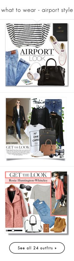 """""""what to wear - airport style"""" by sofirose ❤ liked on Polyvore featuring airportstyle, FOSSIL, J.Crew, Converse, DKNY, Frends, casual, stripes, casualoutfit and airportlook"""