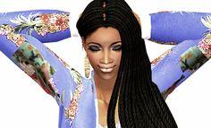 Sabina Calixto... Credits: Hair - Rowansims recolour by me Earings - Simsurbania Clotes-Always Sims Jacket; Anitka top;  Skintone-Shizeve Eyes - Cruzy@SiUGS