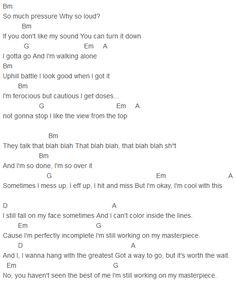 Jessie J - Masterpiece Chords Capo 1