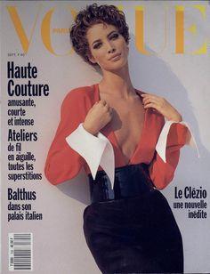 Christy Turlington en couverture du numéro de septembre 1990 de Vogue Paris http://www.vogue.fr/thevoguelist/christy-turlington/43