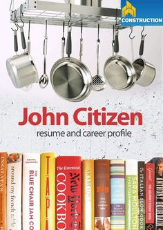 Professional Resume for hospitality workers or Chef's targeting roles within the Mining Industries.