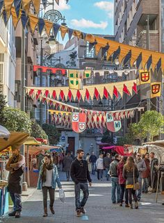 The Medieval market.