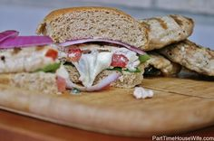 Stuffed Turkey Caprese Burger. Making this tomorrow.