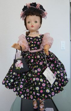 "Vintage Madame Alexander 20"" Cissy Doll 1950's Beauty OOAK Dress Excellent Cond."
