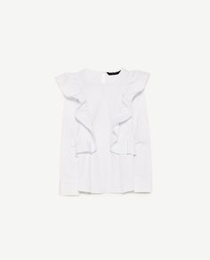 Image 6 of FRILLED POPLIN TOP from Zara