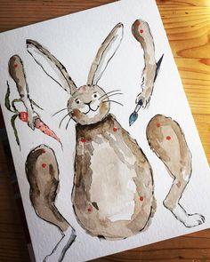 Hampelosterhasenbastelbogen | SoLebIch.de  Foto: drham is drham  #solebich #deko #dekoration #dekoideen #diy #basteln #kinder #selbstgemacht #ostern #ostereier #easter #decor #interior #ideen #draht #einfach #leicht #osterhase #hase Diy Ostern, Hare, Moose Art, Easter, Printables, Spring, Creative, Animals, Rabbits