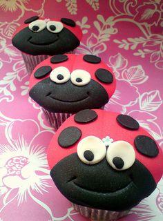 Ladybird fondant cupcakes by Star Bakery (Liana), via Flickr