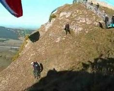 This is a compilation of paragliders launching of Te Mata Peak in Hawkes Bay New Zealand.