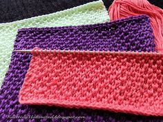 Knitted Dishcloth pattern Peal Brioche stich - Gisella P. Knitted Washcloth Patterns, Knitted Washcloths, Dishcloth Knitting Patterns, Crochet Dishcloths, Knit Or Crochet, Crochet Patterns, Sweater Patterns, Crochet Baby, Easy Knitting