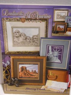 Landmarks of America Stoney Creek Cross Stitch Patterns Mt Rushmore & More #StoneyCreek #Sampler
