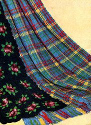 Crochet afghan-plaid on Pinterest Plaid Crochet, Afghans ...