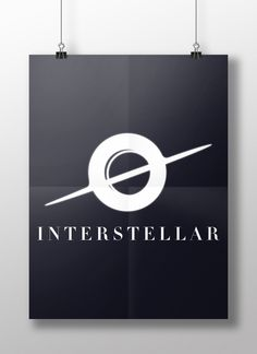 Poster flat design (Interstellar)