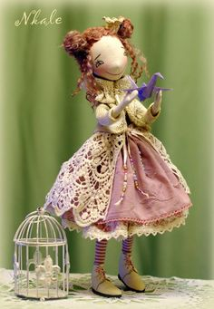 Patrón de muñeca de tela