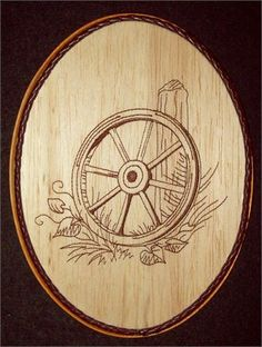 This unique Wagon Wheel Embroidery Balsa Wood Art, Country Western Decor combines the warmth of wood with the raised texture of brown thread and 6,401 stitches. The design was machine embroidered into a sheet of balsa wood, then cut and mounted on an oak stained 7 x 9 x 1 plaque. The brown leather braided trim was added before a clear protective, non-yellowing acrylic matte finish was applied. A brass hanger is attached to the backside making it ready for hanging.   Balsa Wood Embroidery is…