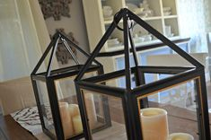 DIY Dollar Tree Picture Frame Lanterns – Un-effing-believable. I'm going to make of these! This same tactic could be applied to huge frames from like Walmart of somewhere I bet too, lanterns for outside or wherever. Dollar Tree Decor, Dollar Tree Store, Dollar Tree Crafts, Dollar Stores, Dollar Tree Wedding, Wedding Tips, Wedding Hacks, Diy Wedding, Wedding Reception