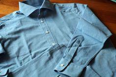 Summer casual - Bespoke polo shirt in chambray