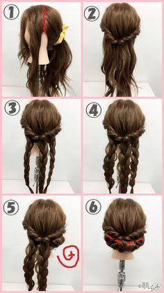 ギブソンタック やり方 Wedding Hairstyles, Cool Hairstyles, Hair Arrange, Pretty Girls, Curly Hair Styles, Hair Makeup, Kimono, Hair Color, Inspiration