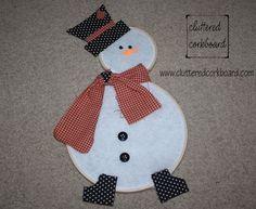 My Whimsical Wood Hoop Snowman