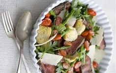Recipe for grilled steak and spring vegetable salad