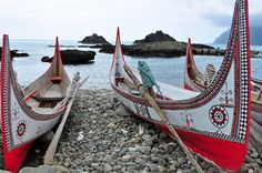 www.mytaiwantour.com Traditional fishing boats of indigenous on Orchid Island, Taiwan.  Handmade assembled boats of local indigenous on Orchid island. Orchid Island (LanYu) is one of Taiwan's volcanic islands off the eastern coast of Taiwan in the Pacific Ocean.