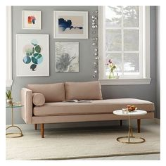 West Elm Monroe Mid-Century Left Arm Chaise Lounger, Luster Velvet,... ($959) ❤ liked on Polyvore featuring home, furniture, chairs, accent chairs, velvet furniture, velvet chaise lounge, hand made furniture, west elm furniture and mid century chair