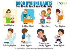 Hygiene isn't just about maintaining a good appearance. In fact, it is a proactive way to prevent the spread of viruses and bacteria. Good personal hygiene habits will help your child stay healthy…More Hygiene Lessons, Health Lessons, Healthy Habits For Kids, Stay Healthy, Healthy Eating, Healthy Weight, Healthy Food, Healthy Body Images, Hand Hygiene