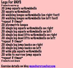 Legs for Days killer legs, killer leg day, killer leg workout, walk, leg workouts