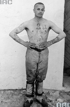 Więzień Więzienia Ciężkiego na Świętym Krzyżu (1933-35 r.).