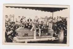 1950s Casket Funeral Vintage PHOTO Creepy Spooky GHOST?