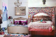I love the colours & of course the #Moroccan #Bridal Blanket! (for the room on the right)