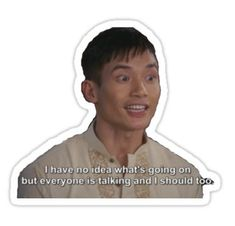'Jason Mendoza' Sticker by adamkaplans Tumblr Stickers, Cute Stickers, Laptop Stickers, Manny Jacinto, Place Quotes, Homemade Stickers, Anne With An E, Everything Is Fine, Mothers Day Quotes