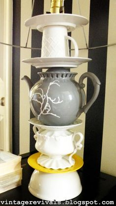 How to make Anthropologie Teapot Lamp