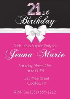 Free printable 21st birthday invitations templates 21st birthday 21st birthday invitation 21st birthday party invitation diamond ribbon party invite filmwisefo