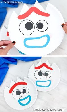 If your kid loves Toy Story 4, they'll want to make this paper plate Forky craft! Download our free printable template and make with your children. Disney Crafts for Kids    #simpleeverydaymom #paperplatecrafts #forkycrafts #toystorycrafts #disneycrafts