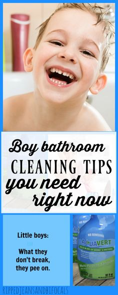 The Boy Bathroom Cleaning Tips You Need Right Now - Ripped Jeans & Bifocals