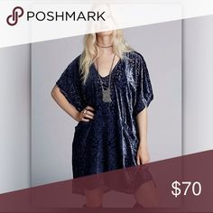 Free People Room of shadows velvet dress med Good used condition, more photos coming soon Free People Dresses Mini