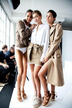 Gigi goes nude for Stuart Weitzman | Harper's Bazaar