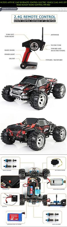 WLtoys A979 RC Car 1:18 Remote Control Electric Vehicle 2.4G 4WD Off Road Buggy Radio Control RTR Red #technology #drone #racing #plans #tech #wltoys #kit #fpv #gadgets #a979 #camera #parts #shopping #products