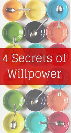 4 Secrets of Willpower goal setting #goal