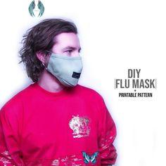 Flu Mask DIY + Printable Pattern  <br> Diy Sewing Projects, Sewing Projects For Beginners, Sewing Hacks, Sewing Tutorials, Sewing Tips, Knitting Projects, Flu Mask, Techniques Couture, Sewing Techniques