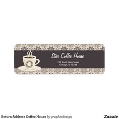 Sold this #coffee #house #labels to OH. Thanks for you who purchased this. Check more at www.zazzle.com/graphicdesign/coffee